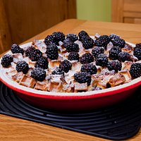 Our Home made waffle berry pie. (Can be ordered for outside catering!)