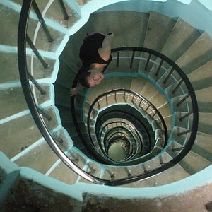 The stairs to the top