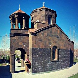 The small Holy Mother of God Church in Avan neighborhood outside Yerevan, Armenia