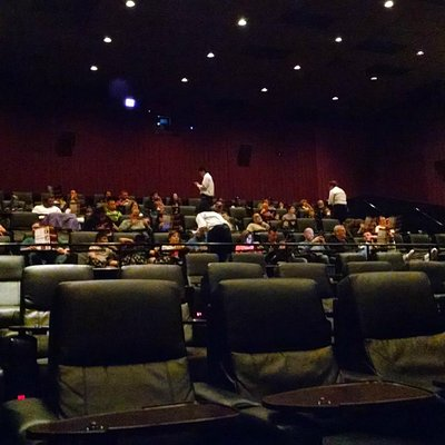 The view of the theater from my seat near the front -- much more comfortable and spacious!