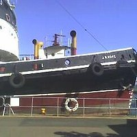 side view of the ship