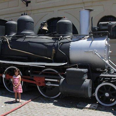 a locomotive outside