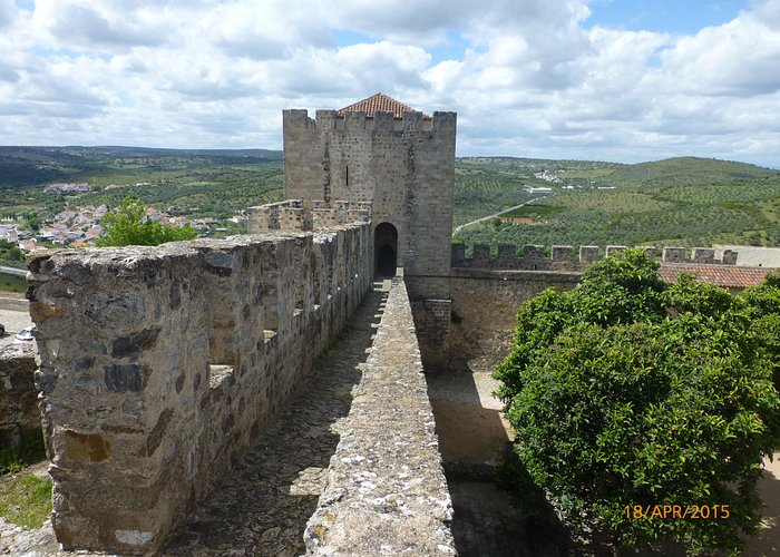 Walking along the battlements