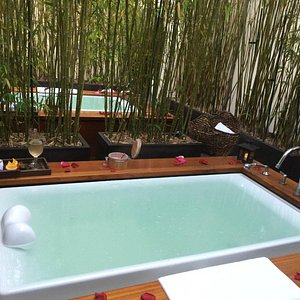 A piece of Heaven at Spa Vitale! My partner and I enjoyed a couples massage,tub soak,and champag