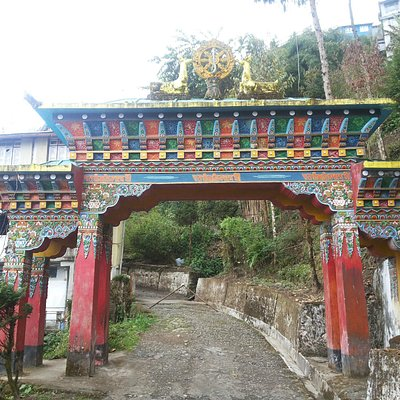 Entrance of Bhutia Busty Gompa