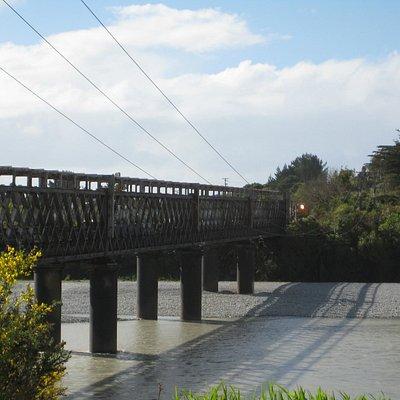 The bridge as a train approaches & waits