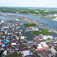 Aerial View of Kampong Ayer
