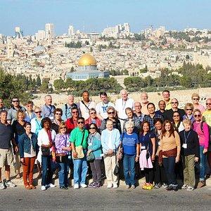 Group tour visiting Jerusalem