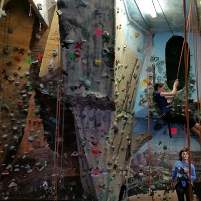 One of the two climbing rooms
