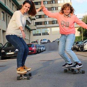 Aula de Skate!