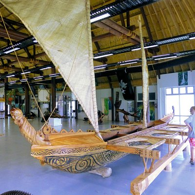 Outrigger boat in museum