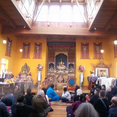 Inside the central shrine room