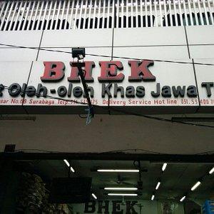 Toko Bhek di Pasar Genteng, Surabaya