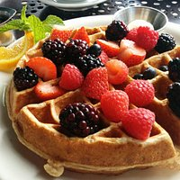 Multi-grain waffles!