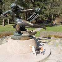 "Famous sculpture ""Egle - the queen of serpents"""