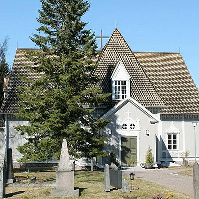 Tuusula church is lovely 18th century church by lake Tuusula.