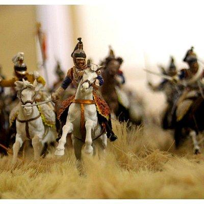 Ricostruzione della battaglia di Waterloo
