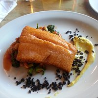 Arctic Char with bean and vegetable medley