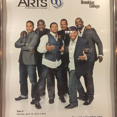 Take 6 poster at Brooklyn Center