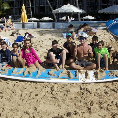 one of our surf camp groups