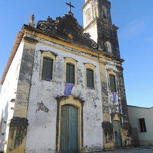 Visão da lateral por onde os escravos subiam para assistir a missa