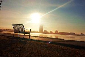 Sunrise on Lake Charles