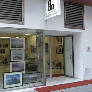Outside the gallery