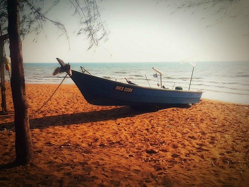 fisherman's boat by the beach