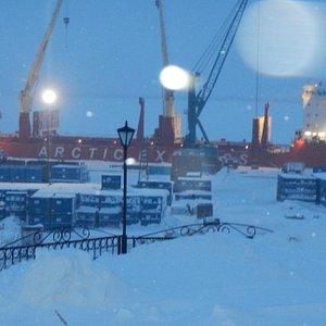 Порт зимой