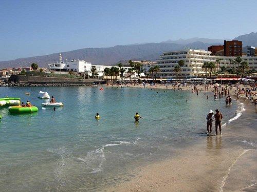 Calm seas at  Playa de la Pinta, Costa Adeje