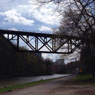 Upside down bridge