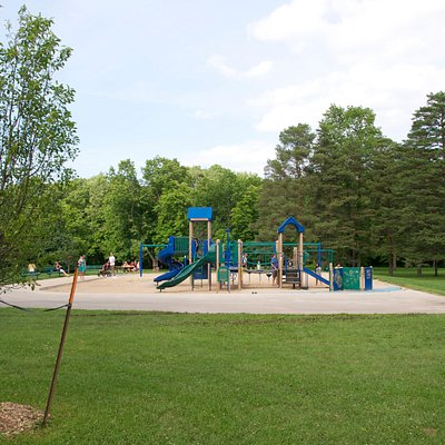 Large playground in sand- bring your shovels and buckets