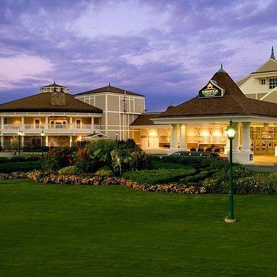Saratoga Casino and Raceway at Dusk