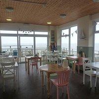 Inside Barnacles Beach Cafe