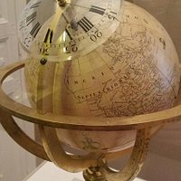 Old globe and clock in one.