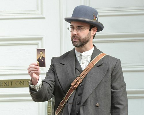 Photo of William Diggle as Detective James McDevitt in the Ford's Theatre History on Foot walkin