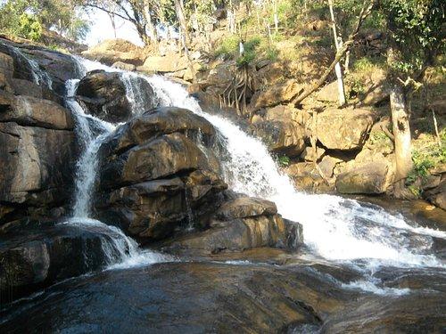 water fall below