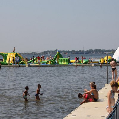 Aquapark, right near the beach