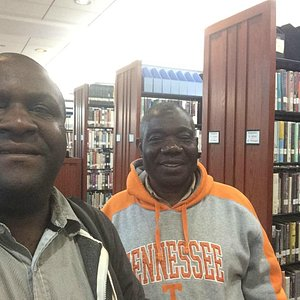 My uncle and I, 30+ years after he initiated me to the beauty of library research