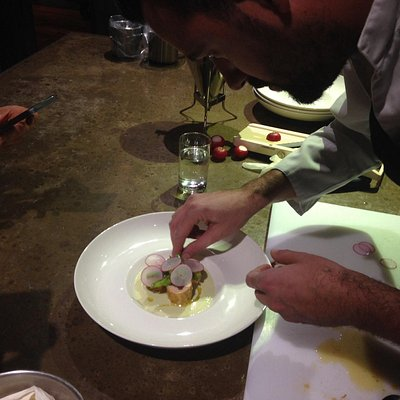 Plating the main course