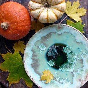 Crystalline Plate by Maggie Zerafa