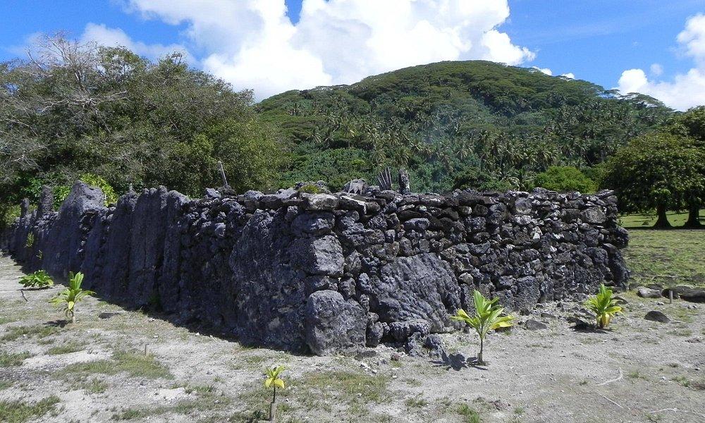 Vue du Marae de Raiatea