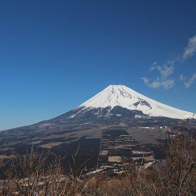 十里木駐車場から30分程登った展望台からの富士山