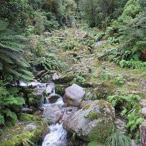 One of the waterfalls en-route