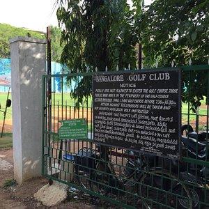 Entrance to banglore Golf Club