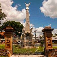 Gates and memorial