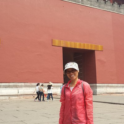 Cindy at the Forbidden City