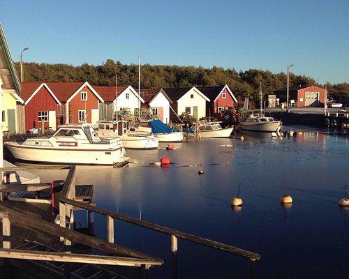 Breviks Fiskehamn en vinterdag