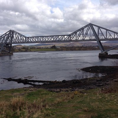Connel Bridge straddles the falls