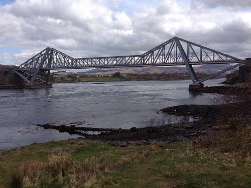 Connel Bridge straddles the falls